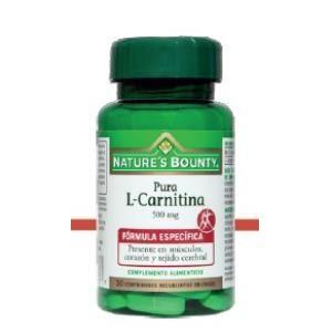 l-carnitina 500mg natures