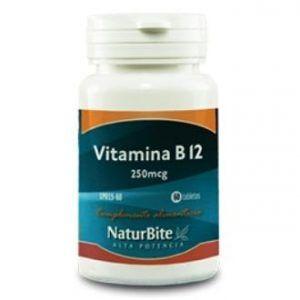 Vitamina B12 250mcg NaturBite